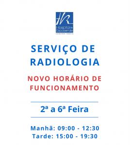Serviço de Radiologia  do Hospital de Esposende - horário de funcionamento